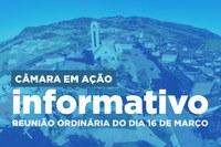 Informativo da Reunião de 16 de Março