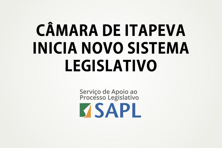 Novo Sistema Legislativo - SAPL